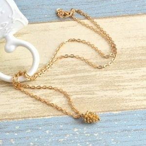Dainty Pine cone necklace